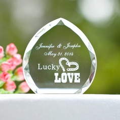 Personalized Heart design Crystal Cake Topper
