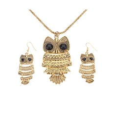 Cute Owl Alloy With Imitation Crystal Ladies' Jewelry Sets