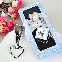 Classic Hearts Shape Beer Bottle Openers With Ribbons