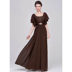 A-Line/Princess Sweetheart Floor-Length Chiffon Mother of the Bride Dress With Ruffle Beading Sequins