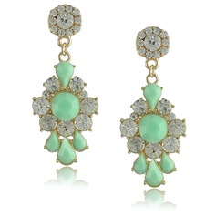 Fashional Alloy Rhinestones Resin Ladies' Fashion Earrings
