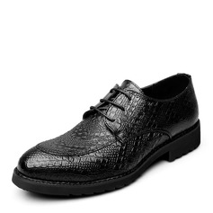 Men's Microfiber Leather Lace-up Casual Men's Oxfords