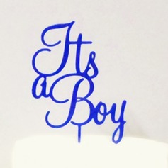 It's a Boy Acrylic Baby Shower Cake Topper