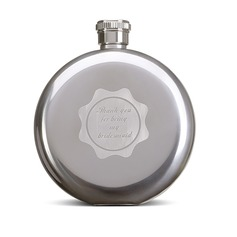 Bridesmaid Gifts - Personalized Beautiful Classic Elegant Stainless Steel Flask