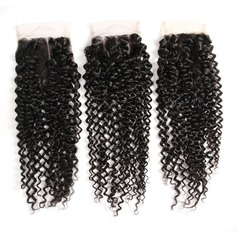 "4""*4"" 4A Non remy Kinky Curly Human Hair Closure (Sold in a single piece) 100g"