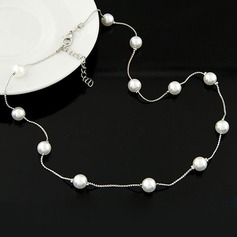 Stylish Alloy Imitation Pearls With Imitation Pearl Ladies' Fashion Necklace (Sold in a single piece)