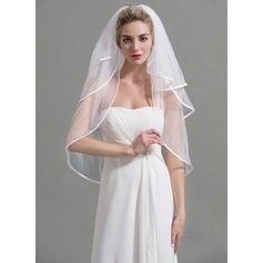 Three-tier Pencil Edge Elbow Bridal Veils
