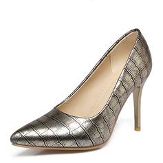 Vrouwen Kunstleer Stiletto Heel Pumps Closed Toe met Anderen schoenen