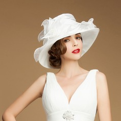 Ladies' Beautiful Summer Organza With Bowler/Cloche Hat (196075361)