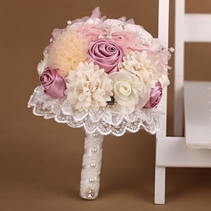 Eye-catching Round Satin/Tulle Bridal Bouquets