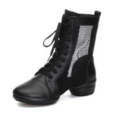 Женщины Натуральня кожа сетка Танцевальные кроссовки Современный Танцевальные кроссовки Бальные танцы Обувь для танцев