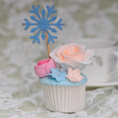 Snowflake Cake Topper (Set of 10)