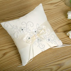 Elegant Ring Pillow in Cloth With Bow