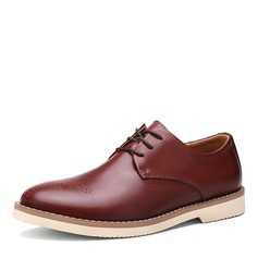Maschile Vera Pelle Brogue Casuale Oxford da uomo