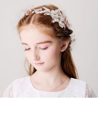With Flower Headbands/Hairpins (Set of 3)