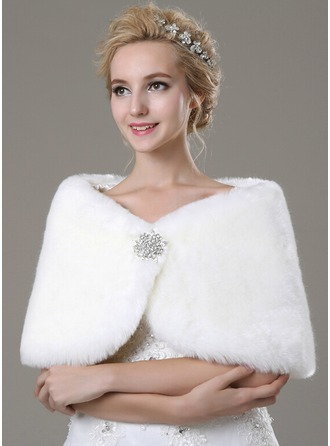 Faux Fur Fashion Shawl