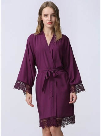 Bride Bridesmaid Lace Satin & Lace Robes