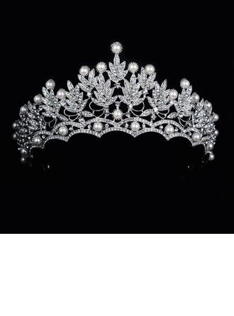 Ladies Gorgeous Rhinestone/Alloy Tiaras With Rhinestone