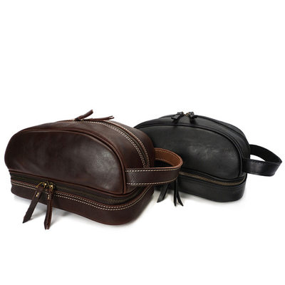 Groomsmen Geschenken - Klassiek Leer Dopp Kit Bag