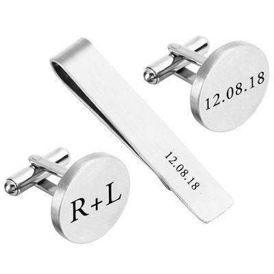 Groom Gifts - Personalized Classic Alloy Tie Set