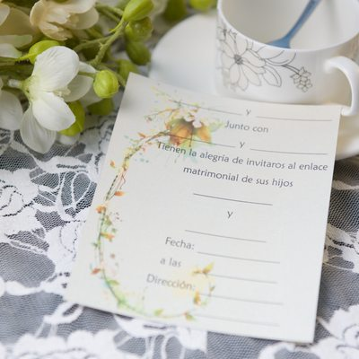 Floral Style Flat Card Invitation Cards
