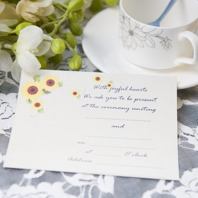 Style Florale Carte plate Invitation Cards
