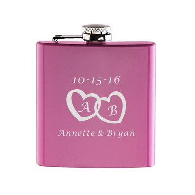 Bride Gifts - Personalized Fashion Vintage Stainless Steel Flask