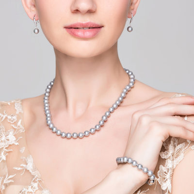 Bridesmaid Gifts - Classic Elegant Pearl Jewelry Set