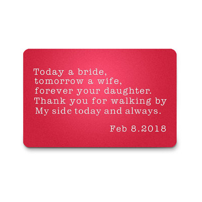 Groom Gifts - Personalized Elegant Aluminum Wallet Insert Card