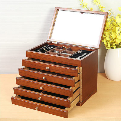 Bride Gifts - Fashion Vintage Wooden Jewelry Box