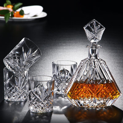 Groomsmen Gifts - Vintage Glass Decanter Set