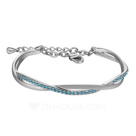 Elegant Alloy/Crystal Ladies' Bracelets (011190019)