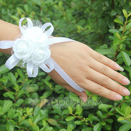 Satin Wrist Corsage (Sold in a single piece) - (123182746)