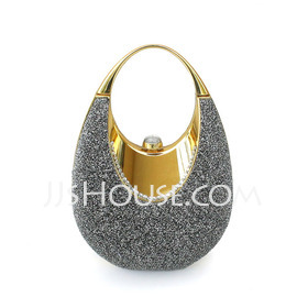 Shining Metal With Glitter Wristlets/Bridal Purse (012025491)