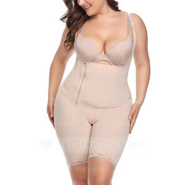 Women Feminine/Classic Polyester/Cotton/Chinlon High Waist Bodysuit/Shorts Shapewear (125174630)