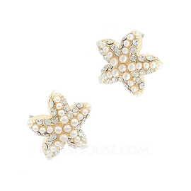Gorgeous Alloy With Pearl Women's Earrings (011034517)