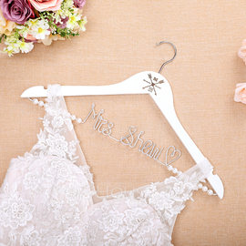 Bride Gifts - Personalized Classic Wooden Hanger (255184448)