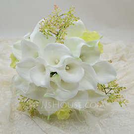 Refined Round Simulation PU Materials Bridal Bouquets (123053207)