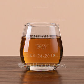 Bride Gifts - Personalized Classic Glass Glassware and Barware (255184393)