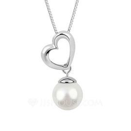 Charming Platinum Plated With Pearl Ladies' Necklaces (011053804)