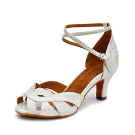 Women's Leatherette Sparkling Glitter Heels Latin With Hollow-out Dance Shoes (053086937)