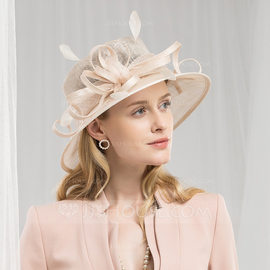 Ladies' High Quality/Romantic/Vintage Cambric With Feather Fascinators/Kentucky Derby Hats/Tea Party Hats (196182258)