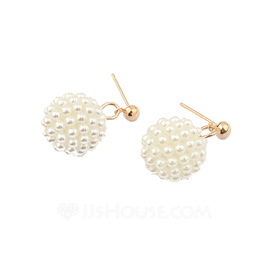 Unique Pearl Ladies' Earrings