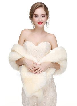 Faux Fur Wedding Shawl (013218346)