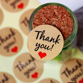 Thank You Stickers DIY Gift Wrapping Materials(Set of 24 pieces) (051178614)
