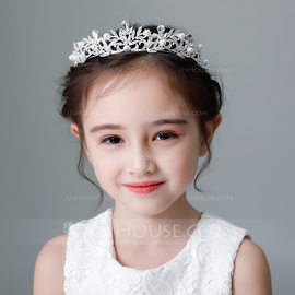 Kids Beautiful Rhinestone/Alloy/Imitation Pearls Tiaras With Rhinestone/Venetian Pearl (Sold in single piece) (042185662)