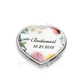 Bridesmaid Gifts - Personalized Stainless Steel Compact Mirror (256184478)