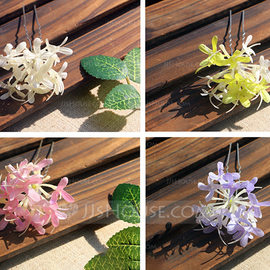 Ladies Special Silk Flower Combs & Barrettes (042205943)
