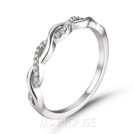 Infinity Round Cut 925 Silver Women's Bands