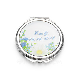 Bridesmaid Gifts - Personalized Stainless Steel Compact Mirror (256184481)